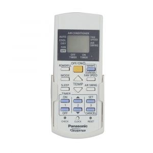 Remote control switch-complete (ACRA75C16560) for Room Air Conditioner for Model CS-WU12VKY Panasonic